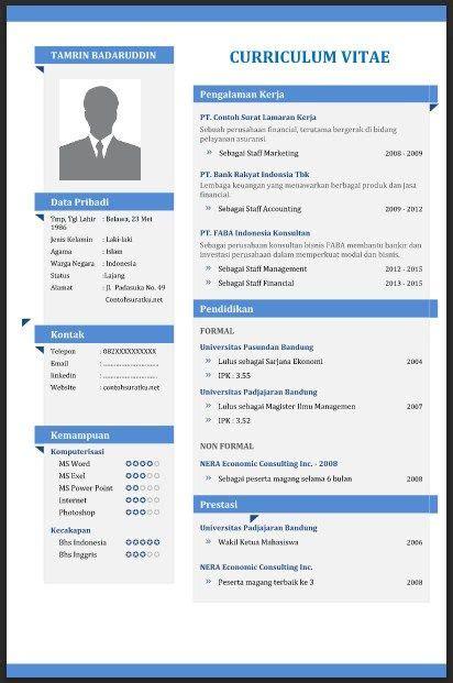 cv template download indonesia contoh cv curriculum vitae yang baik menarik dan benar