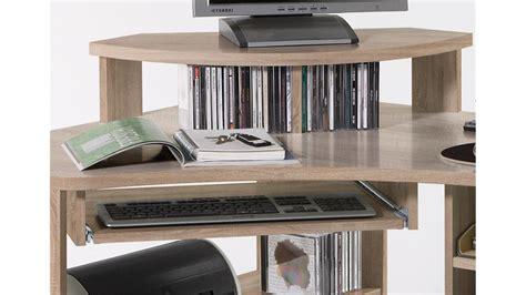 platzsparender schreibtisch schreibtisch tanga ecktisch f 252 r computer in eiche sonoma
