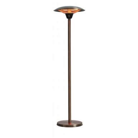 halogen patio heaters frisco brushed copper colored halogen patio heater