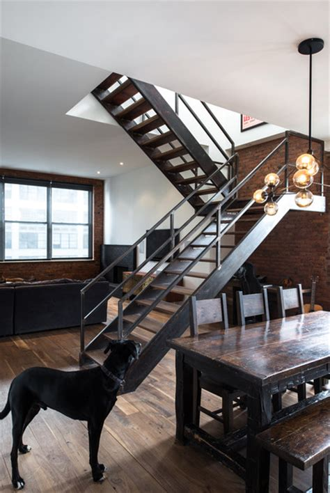 Industrial Stairs Design Design Industrial Staircase New York By Design