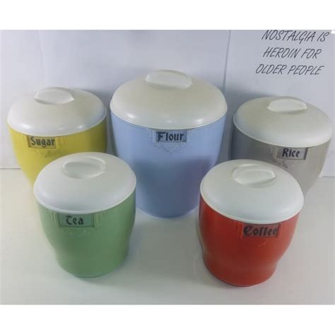 kitchen canisters set of 4 cannisters vintage kitchen on vintage