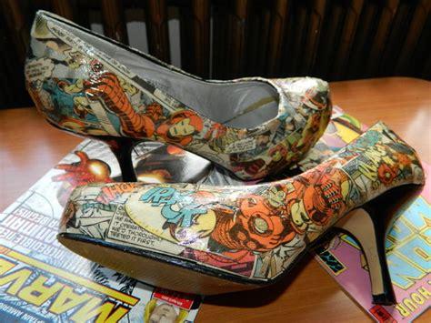 diy comic shoes comic book shoes