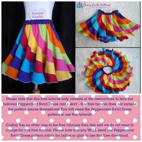 sewing pattern hacks free sewing tutorial peppermint swirl skirt hack i sew free