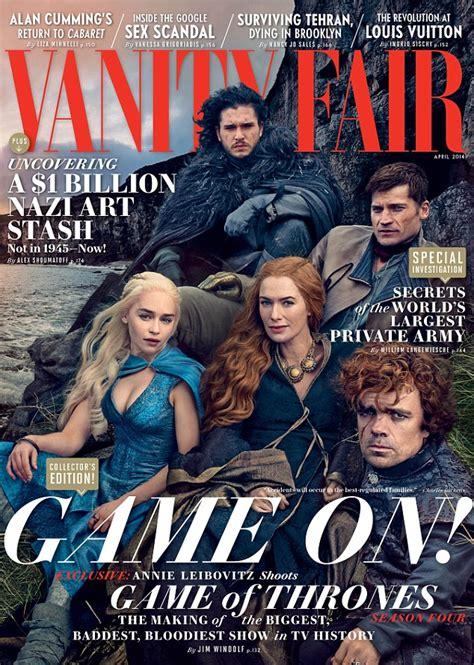 Vanity Fair Of Thrones Of Thrones Cast Cover Vanity Fair As Series Four
