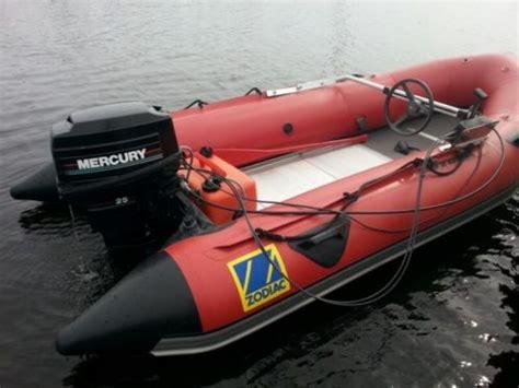 rubberboot met motor 25 pk zodiac 25 pk mercury rubberboot speedboot advertentie 541380