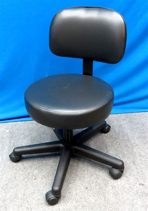 Doctors Stool With Back by Doctors Stool With Back Gas Lift Adjustable New In Box