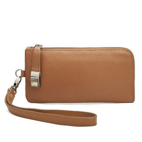 casual and elegance series cowhide leather clutch