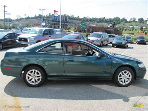 2002 green honda accord 2002 noble green pearl honda accord ex v6 coupe 32177824
