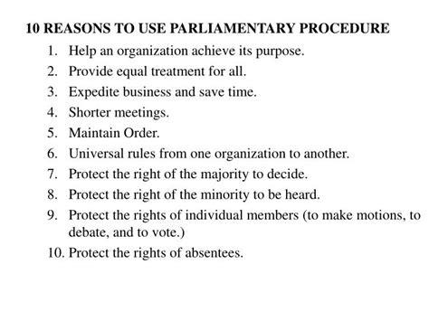 ppt parliamentary procedure powerpoint presentation id 7015365