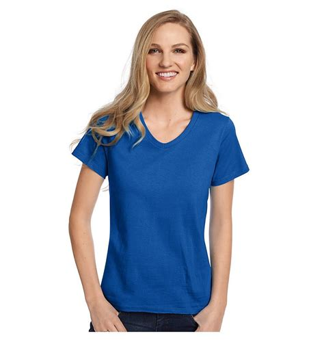 hanes comfort fit hanes relaxed fit women s comfortsoft v neck t shirt