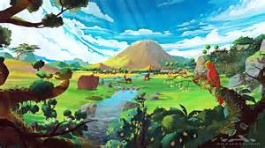 mind blowing forest in vibrant colors animation short film
