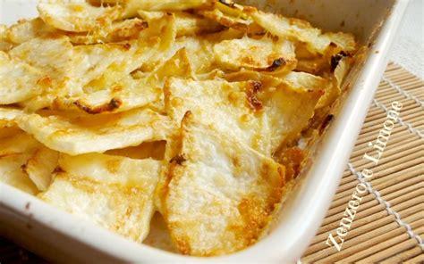 cucinare il sedano rapa chips di sedano rapa ricetta contorno zenzero e limone
