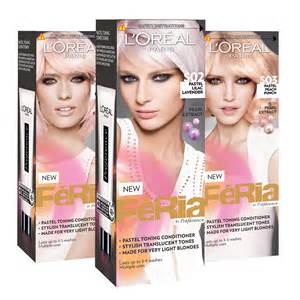 loreal pastel hair color l oreal f 233 ria pastel toning conditioner baked