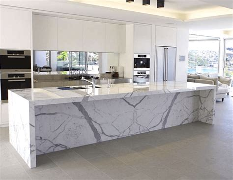 Kitchen Island With Marble Top | white kitchen with marble top island white glass kitchen