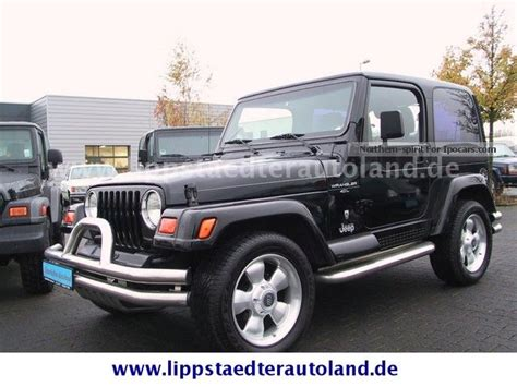 Jeep Wrangler Prices By Year 2001 Jeep Wrangler Tj 4 0 Edition 60 Years Abs Euro3