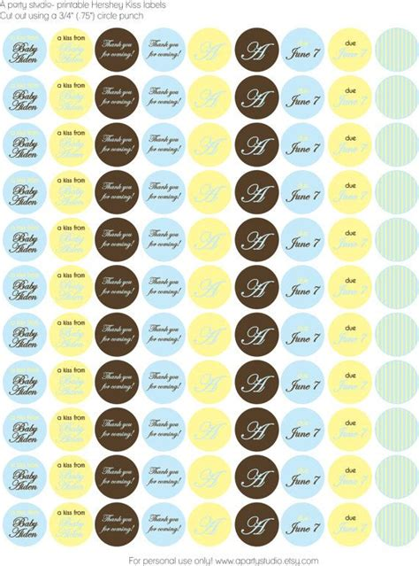 printable kisses labels hershey kiss labels hershey kisses labels pinterest