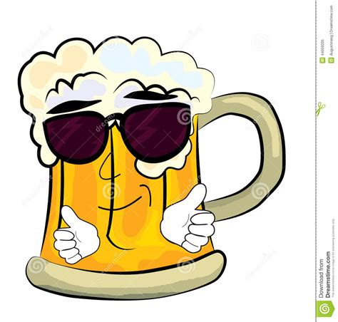 cartoon beer cool beer cartoon stock illustration image 44059205