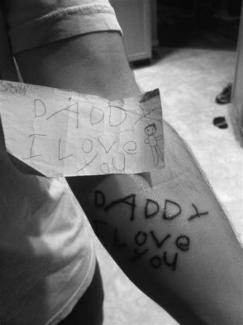 tattoo love you dad women and children first by saying like success