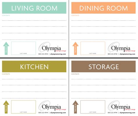 Free Printable Moving Box Labels Olympia Moving Storage Storage Label Templates