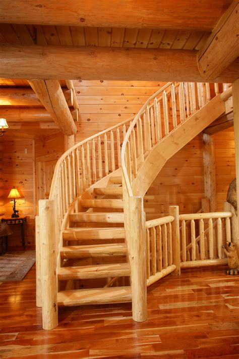Log Cabin House Plans With Photos by Log Stairs The Original Lincoln Logs