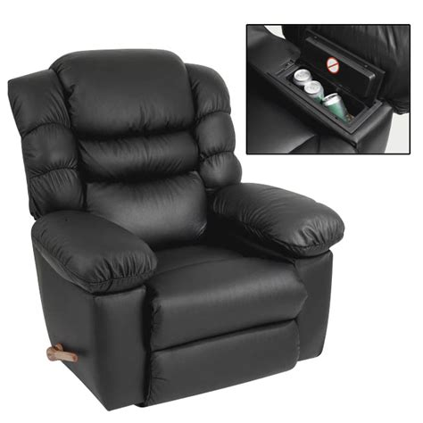 La Z Boy Cool Chair Black Original Recliner With Built In