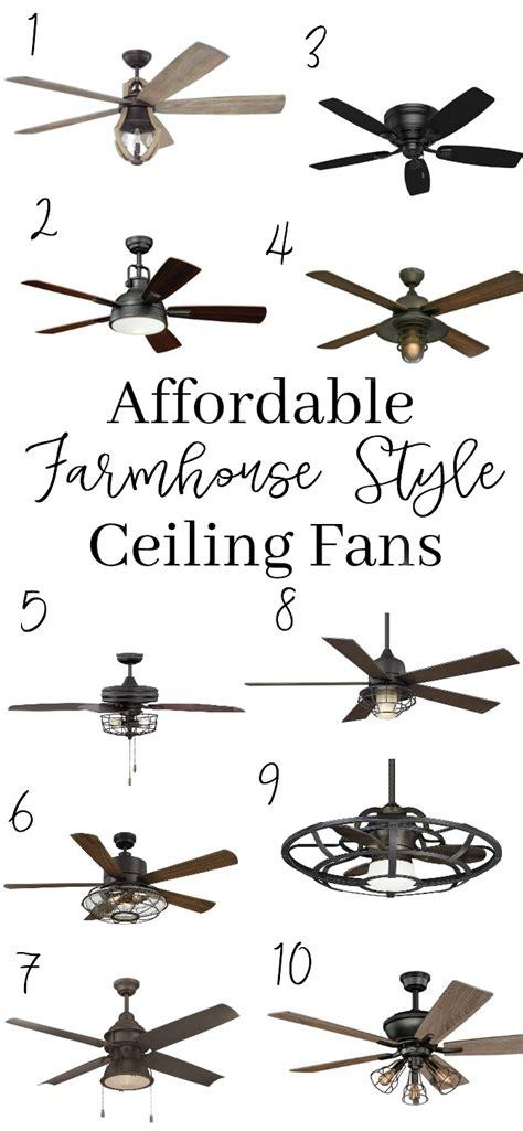 farmhouse style ceiling fans 10 affordable farmhouse style ceiling fans