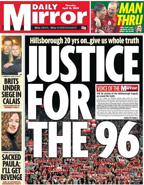 Cover The Mirrors standing firm with the hillsborough families as they