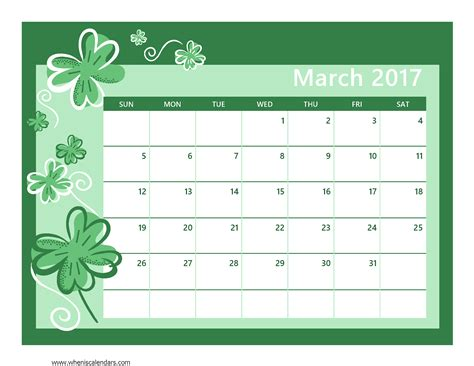printable calendar cute 2017 march 2017 calendar cute weekly calendar template