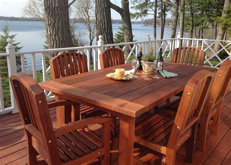 Redwood Patio Table Redwood Patio Table Custom Made Redwood Dining Tables