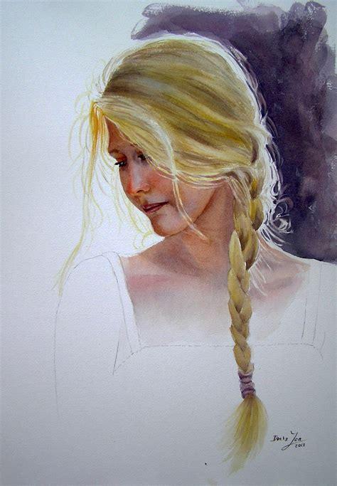 watercolor woman tutorial romantic figurative paintings in watercolor and oil
