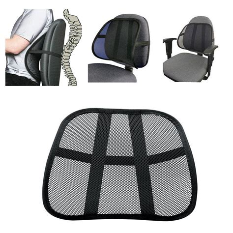 seat support cool vent cushion mesh back lumbar support new car office