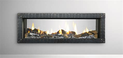 heat glo mezzo see through gas fireplace