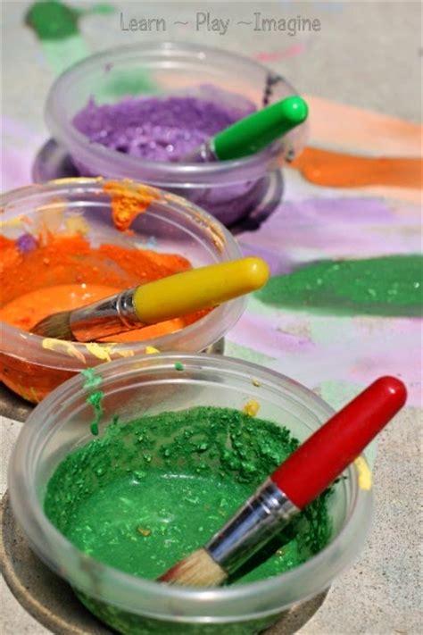 diy chalk paint with cornstarch cornstarch free sidewalk chalk paint recipe learn play