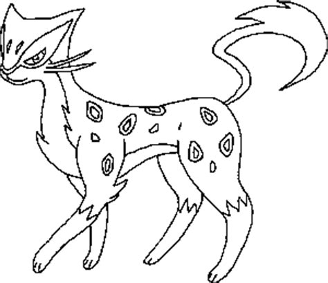 pokemon coloring pages purrloin liepard lineart by oookenshinloverooo on deviantart
