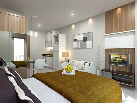 desain interior apartemen tipe studio sketsa desain interior kamar tidur apartement tipe studio