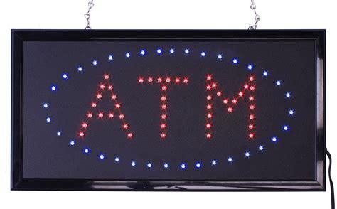 Sign Led Atm atm led sign animation with blue light up oval