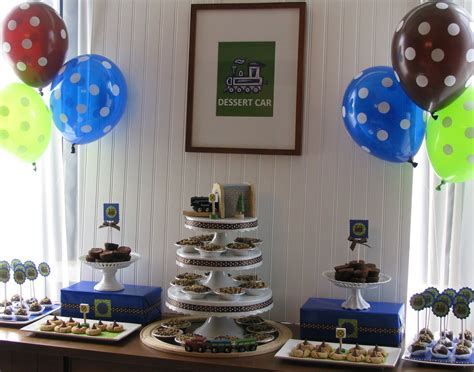 Blue And Brown Baby Shower Table Ideas Photograph Give - blue and brown baby shower table ideas photograph sheek sh