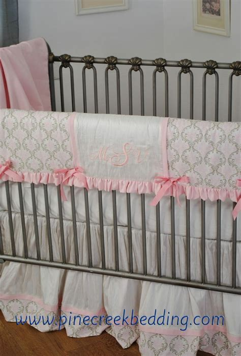 Baby Bumper Pads For Crib Pink And White Teething Rail Wraps Around The Crib Rail Instead Of Using A Bumper Crib Bedding