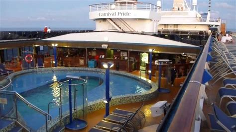 what is a lido deck carnival pride lido deck