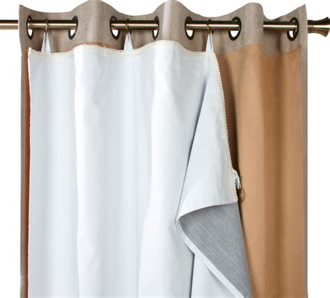 how to attach blackout liner to curtains thermalogic quot ultimate liner quot blackout liner curtain panel