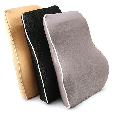 back relief pillow memory foam lumbar back support cushion office car