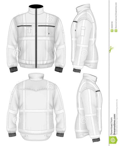 jacket design back men s reflective safety jacket royalty free stock photo