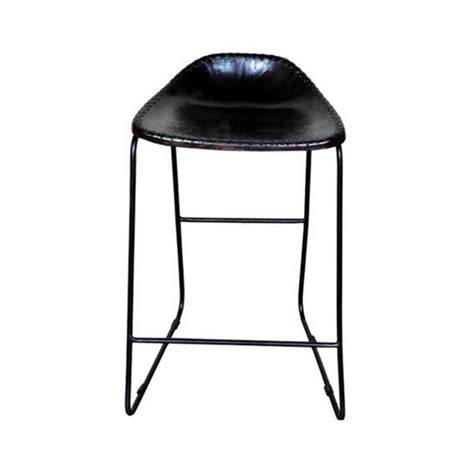 Metal Frame Counter Stools by Bachell Leather Seat Metal Frame Counter Stool Brown