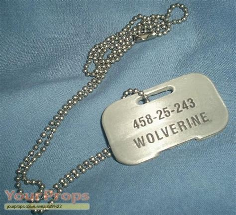 wolverine tags wolverine tag replica prop