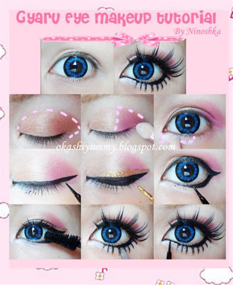 gyaru makeup ariska pue s blog gyaru eyes makeup part 2