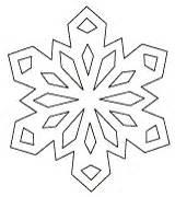 snowflake cutout patterns paper snowflake template