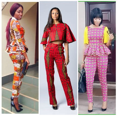ankara top on trousers 20 trending and matching ankara pants and tops