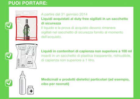 portare alimenti in aereo liquidi nel bagaglio a mano le nuove regole per portarli