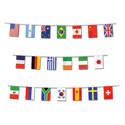 foot international world flags banner border travel