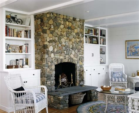 Cottage Style Fireplace by Cottage Style Living Room Boston By Cbrd